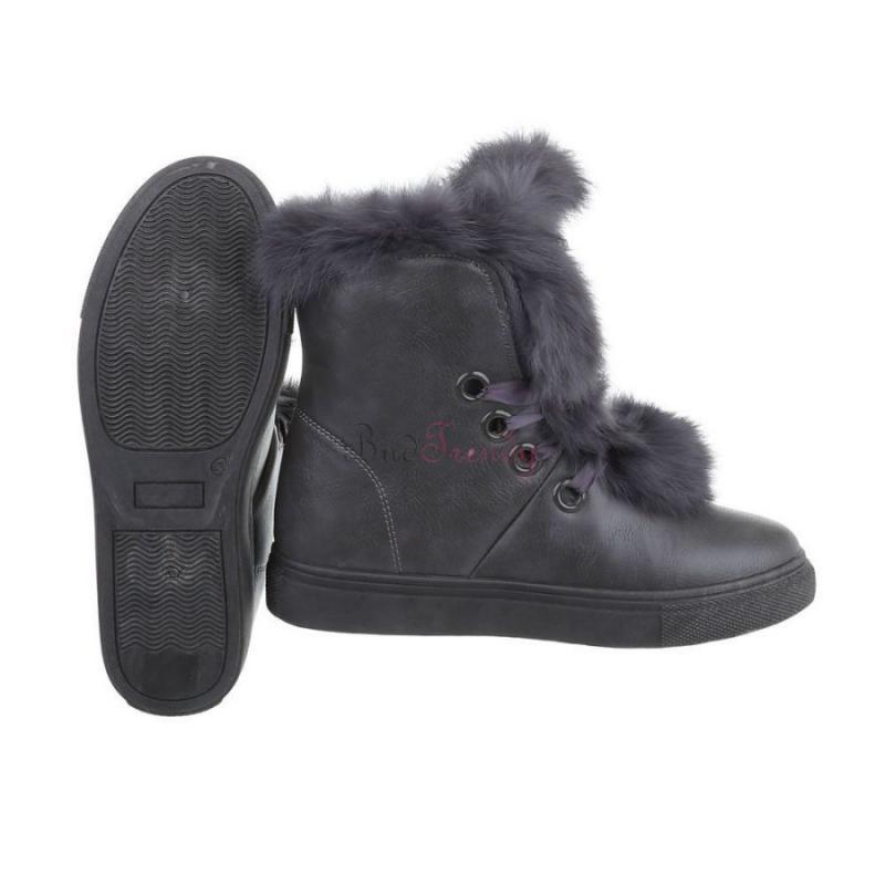 35dd9f792251 akcia Elegantné sivé zateplené dámske topánky na bežné nosenie