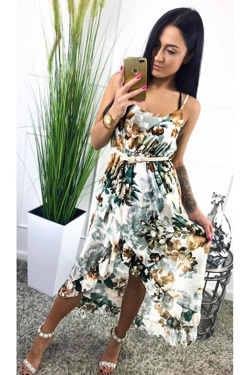 151450916a0a Trendy dlhé šaty s motívom kvetu