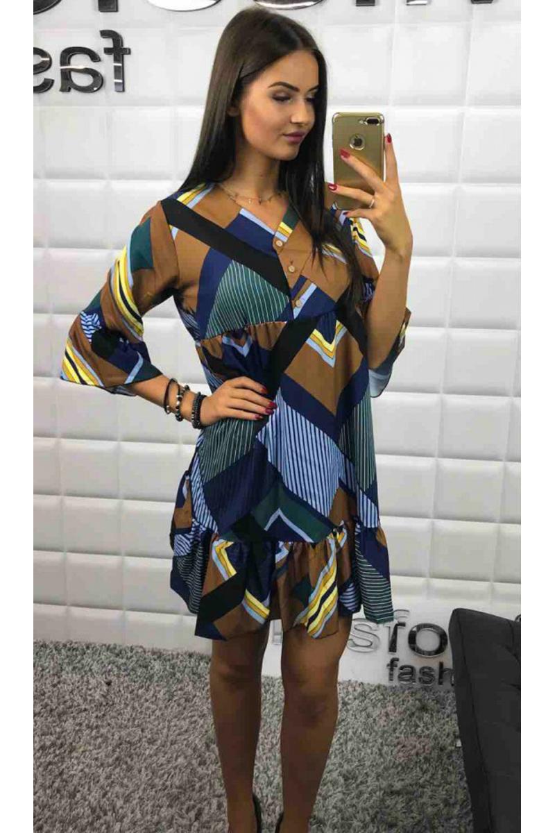 88109846ecc3 akcia Viac farebné vzorované šaty na leto