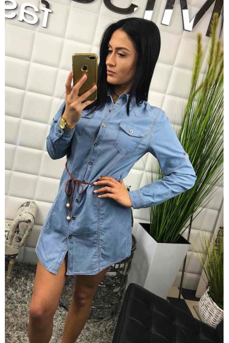 de8fa8d9e4fd Dlhé džínsové šaty na leto