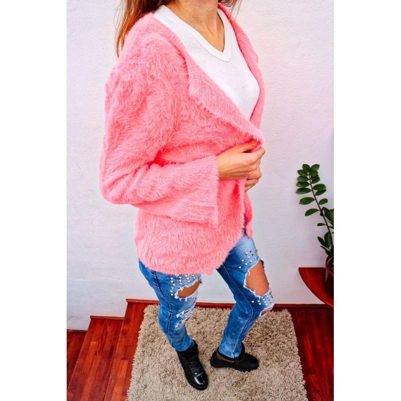 d11a656fe2a1 Ružový sveter pre ženy