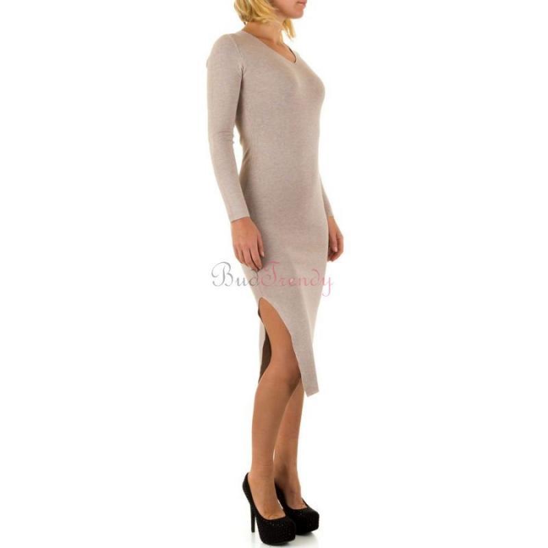 a3bec13e2 Béžové svetrové šaty na zimu
