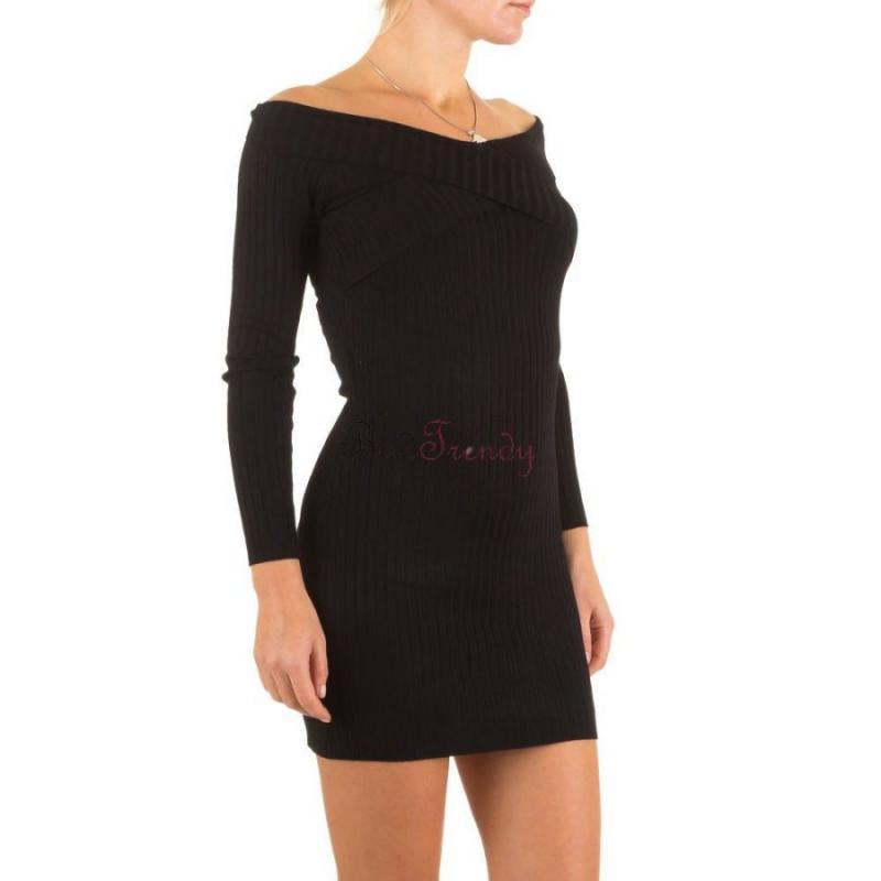 0b3bc060c18f akcia Elegantné čierne svetrové dámské šaty