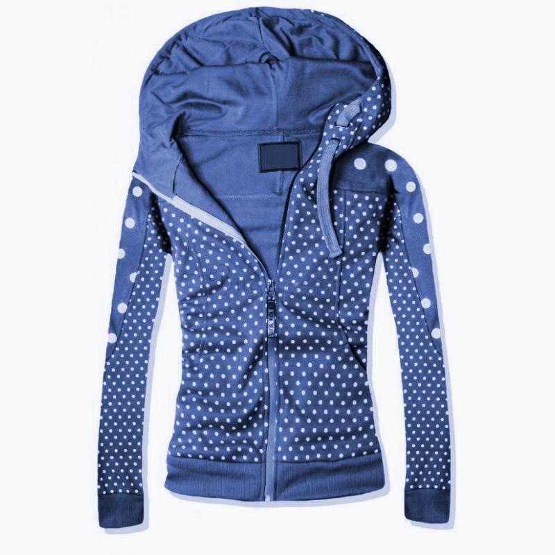 fe11d8a4da82 Modrá trendy dámska mikina s kapucňou na zimu