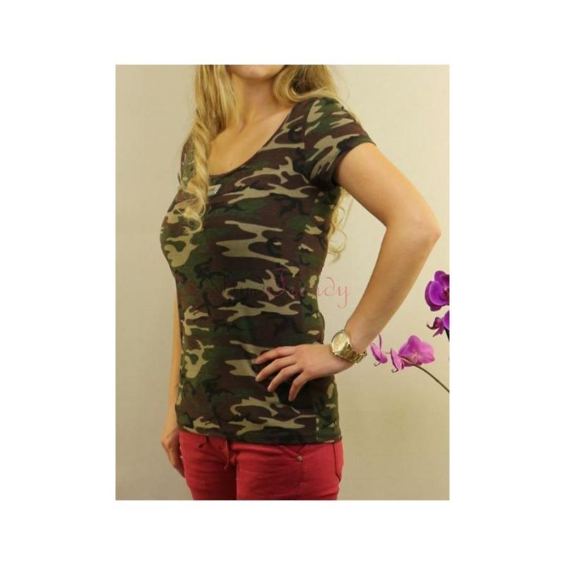 6d2c973b527e Maskáčové army dámske tričko
