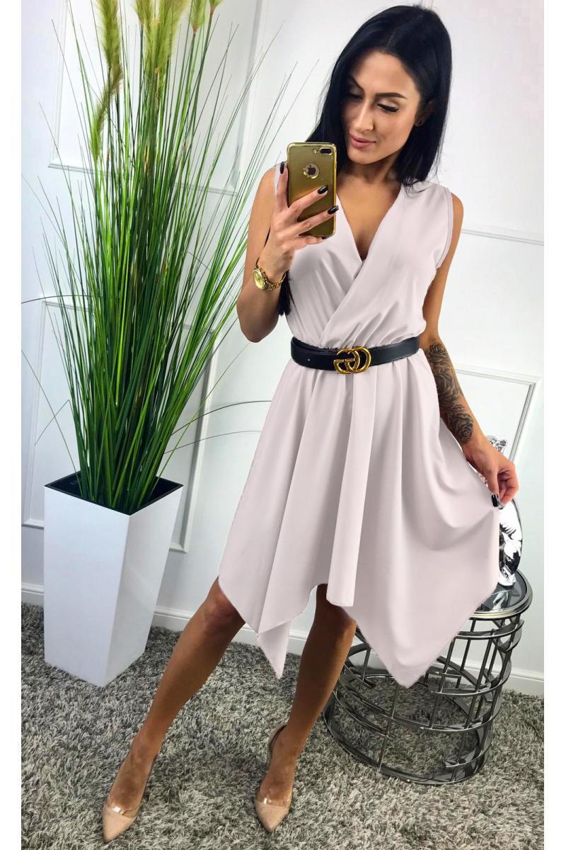 6e8ccfc36161 novinka Krátke biele šaty jednoduchého strihu
