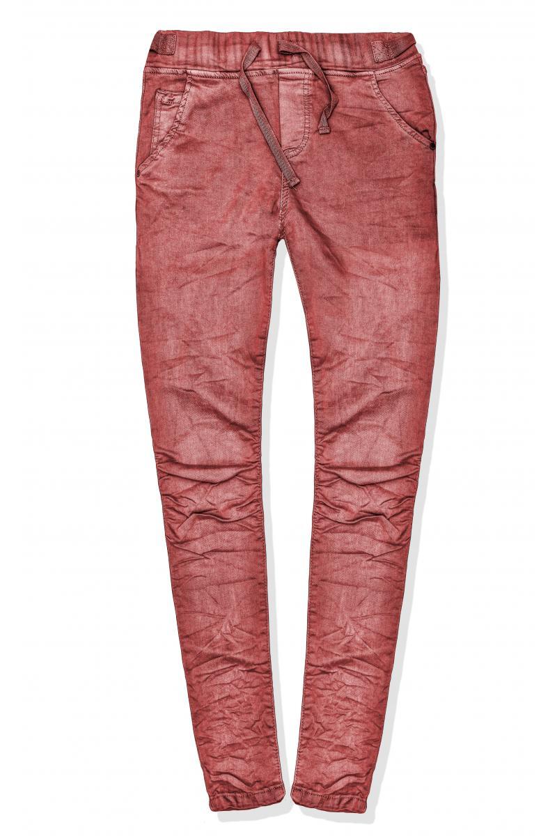 0efdcb1145 Elegantné bordové trendy elastické nohavice