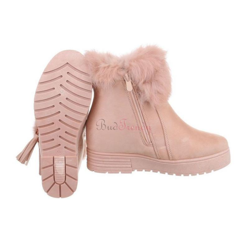 eea4d0b3da17 akcia Pohodlné ružové zateplené dámske topánky na zimu