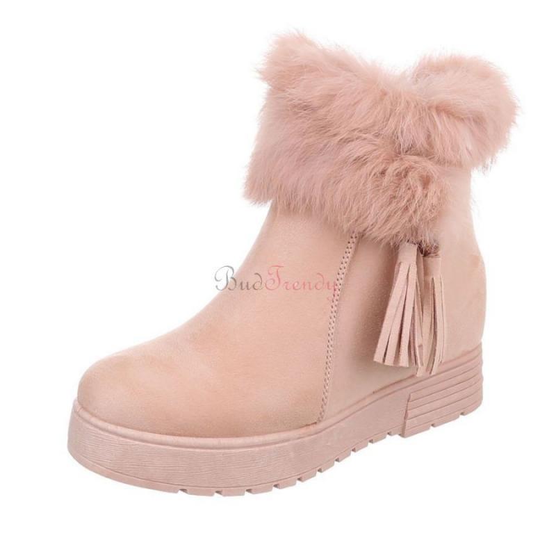 342961ba6c22 Pohodlné ružové zateplené dámske topánky na zimu