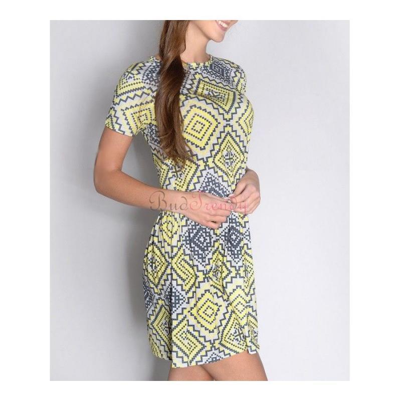 9b202d8c16ad Žlto neónové trendy elastické šaty